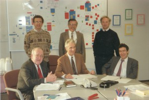1990 - The EARN Executive Board with the General Manager of the EARN Office